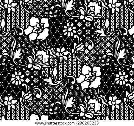 Design pattern for fabric.Batik background. - stock vector