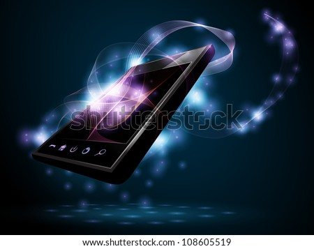 Design phone - stock vector