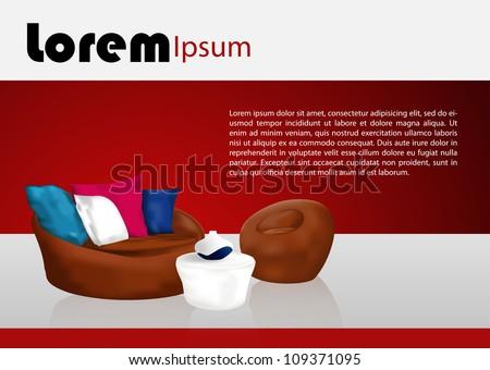 Design relaxing space vector| Editable Illustration - stock vector