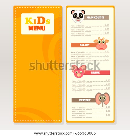 Cafe Menu Place Template Stock Images, Royalty-Free Images