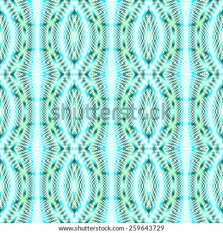 Design seamless colorful movement illusion checked mosaic pattern. Abstract warped textured background. Vector art. No gradient - stock vector