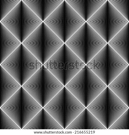 Design seamless diamond trellised pattern. Abstract geometric monochrome background. Speckled texture. Vector art - stock vector