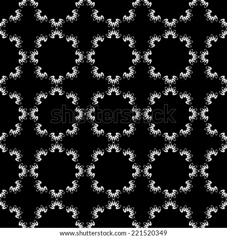 Design seamless monochrome decorative pattern. Abstract grid background. Vector art - stock vector