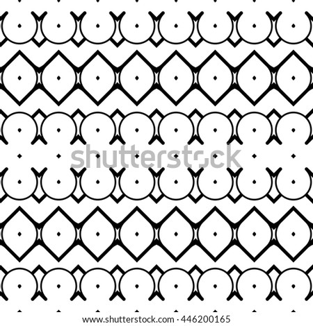 Design seamless monochrome decorative pattern. Abstract zigzag background. Vector art