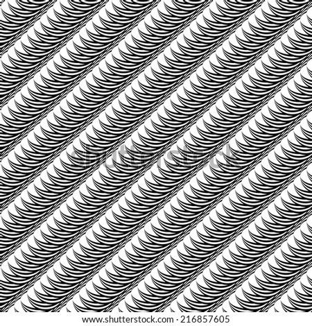 Design seamless monochrome diagonal pattern. Stripy lines textured background. Vector art - stock vector