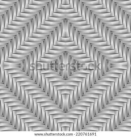 Design seamless monochrome diamond interlaced pattern. Abstract geometrical background. Vector art - stock vector