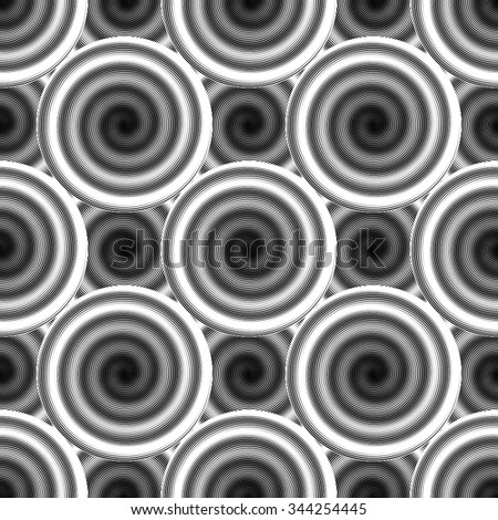 Design seamless monochrome ellipse background. Abstract strip geometric pattern. Vector art. No gradient