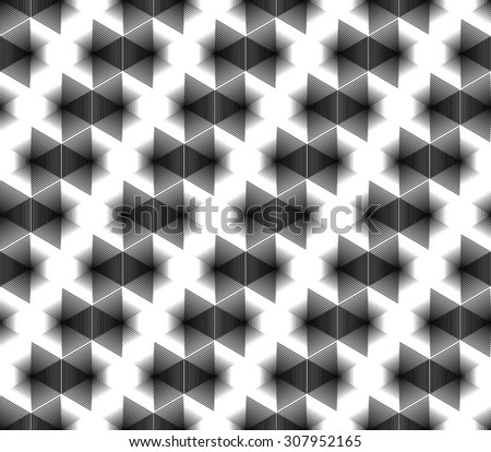 Design seamless monochrome geometric pattern. Abstract grid textured background. Vector art. No gradient - stock vector