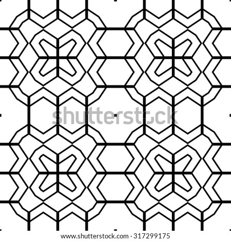 Design seamless monochrome geometric pattern. Abstract zigzag background. Vector art - stock vector