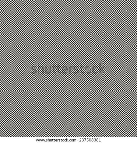 Design seamless monochrome illusion op art  pattern - stock vector
