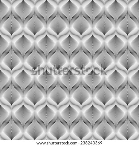 Design seamless monochrome mosaic pattern. Abstract warped textured twisting background. Vector art. No gradient - stock vector