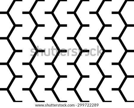 Design seamless monochrome zigzag geometric pattern. Abstract simple background. Vector art - stock vector