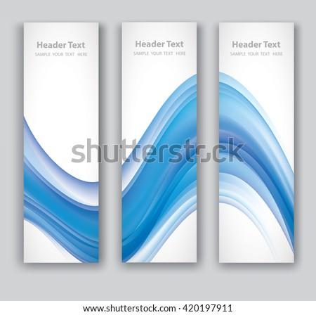 Design set of vertical modern backgrounds, vector layered. eps10 - stock vector