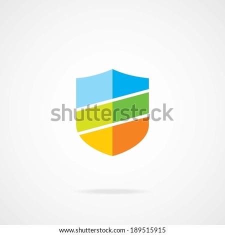 Design shield symbol element. Eps-10. - stock vector