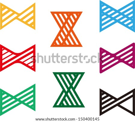 Design spiral logo element. Colorful cross vector icon template. You can use in the buildings, apartments, real estate ,spinning and other three-dimensional concept of pattern.  - stock vector