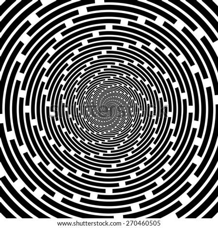 Design spiral striped backdrop. Abstract monochrome background. Vector-art illustration - stock vector
