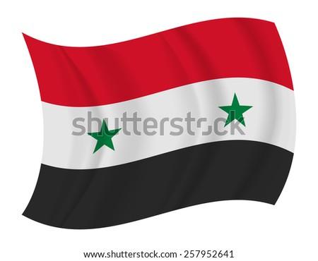 design Syria flag waving vector - stock vector