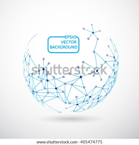design Technology Network, Connection background - stock vector