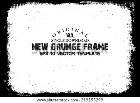 Design template.Abstract grunge frame texture. Stock vector - stock vector