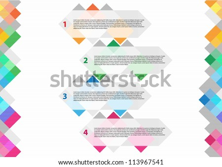 Design template banners - stock vector