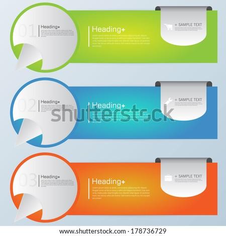 Design template banners set - stock vector