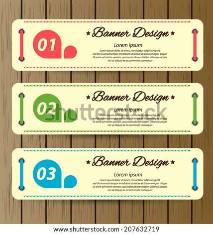 Design template banners set - stock vector