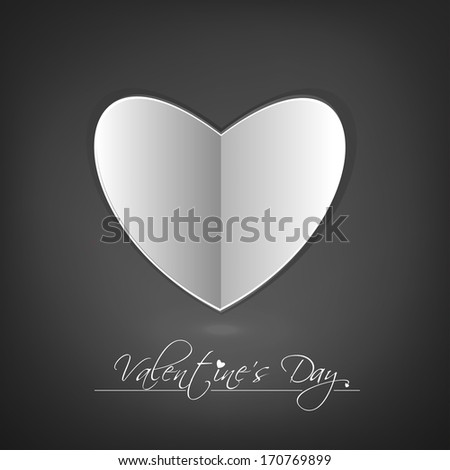 Design Template - eps10 Heart for Valentine's Day Background - stock vector