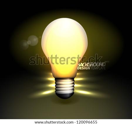 Design Template - eps10 Light Bulb Background - stock vector