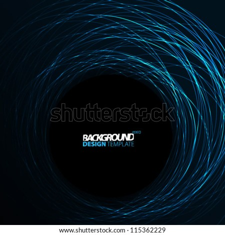 Design Template - eps10 Smooth Curve Lines Background - stock vector