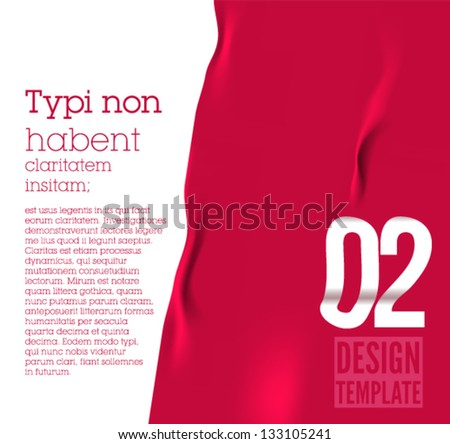 Design template / fabric / can be used for graphic design, web banners, mobile applications / presentations / red version - stock vector