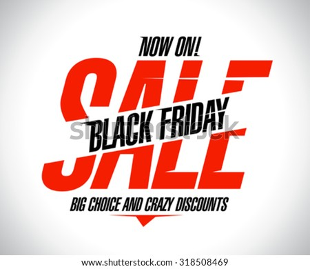 Design template for black friday sale. - stock vector