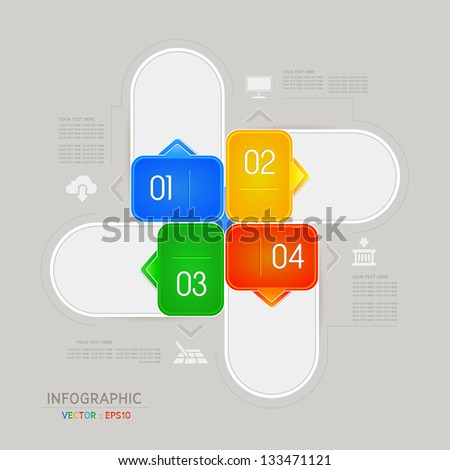 Design template for infographics / banners or website - stock vector