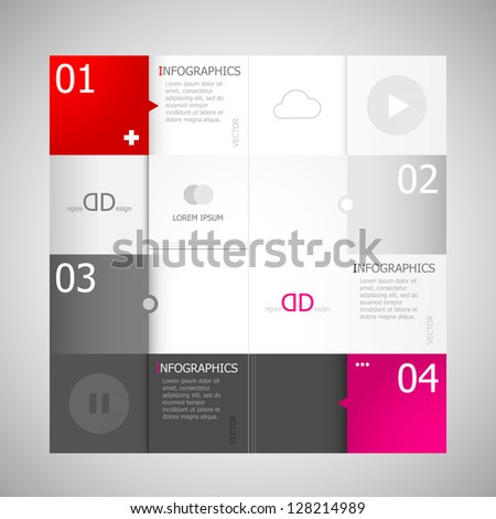 Design template for infographics. Graphic or website layout vector. Design for infographics. Business design and website template. - stock vector