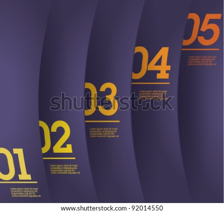 Design template - vertical violet cutout curvy lines / graphic or website layout vector - stock vector