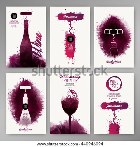 design templates background wine stains suitable for promotions brochures tasting events wine