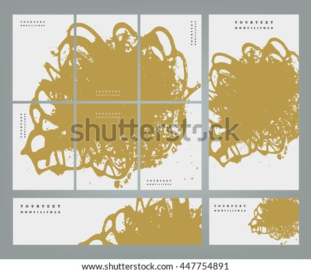 Design templates for your events. Invitations, posters, flayers, business cards and banners. Abstract background handmade texture. Golden vector texture