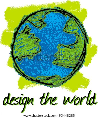design the world - stock vector