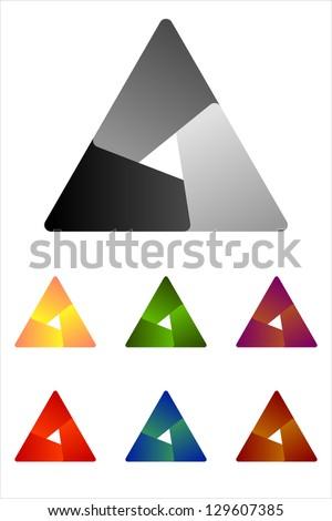 Design triangle logo element. Infinite cross ribbon vector design icon template. - stock vector