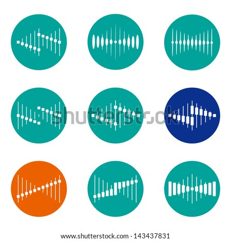Design vector wave logo template. Icon set. You can use in the buildings, apartments, real estate, electronics ,music, mobile,  communications and other three-dimensional concept of pattern. - stock vector