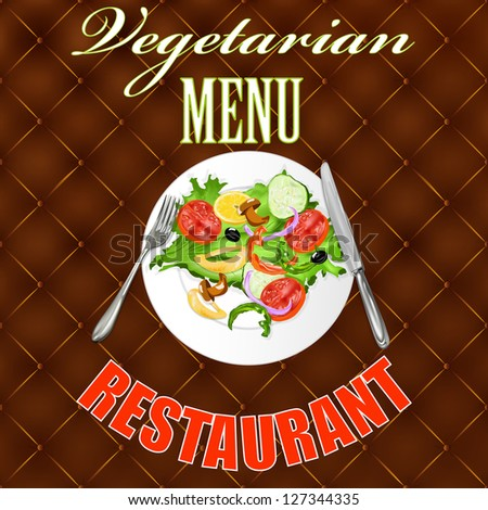 Design vegetarian menu your restaurant.Vector background - stock vector