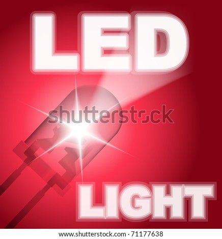Design with led. - stock vector