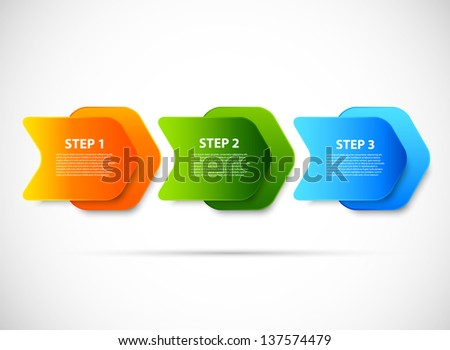Design with steps - stock vector