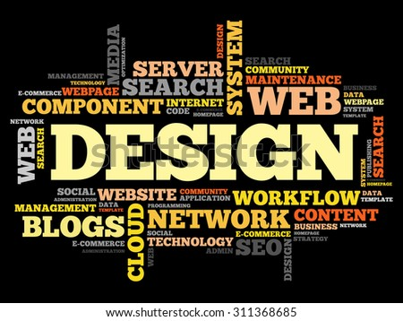 Design word cloud, business concept - stock vector