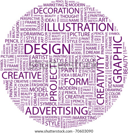 Word Collage On White Background Illustration With Different Association Terms