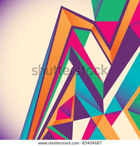 Designed abstract layout. Vector illustration. - stock vector