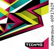 Designed abstract techno background. Vector illustration. - stock photo