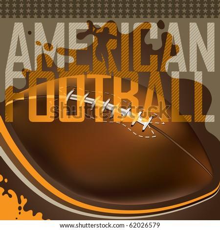 Designed american football banner. Vector illustration. - stock vector