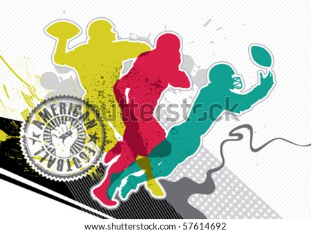 Designed american football banner with abstraction. Vector illustration. - stock vector
