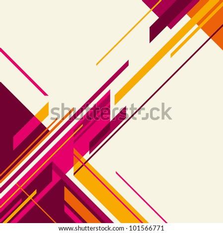 Designed angular layout. Vector illustration. - stock vector