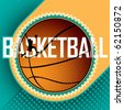Designed basketball banner. Vector illustration. - stock vector